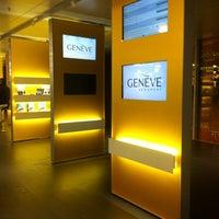 Photo taken at Geneva Cointrin International Airport (GVA) by Valerie W. on 3/2/2013