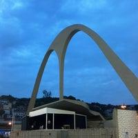 Photo taken at Praça da Apoteose by Tiago F. on 2/16/2013
