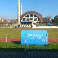 Photo taken at Hendek Atatürk Stadyumu by Furkan S. on 2/16/2014