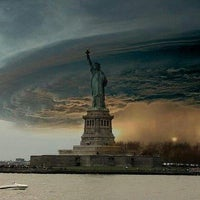 Photo taken at Frankenstorm Apocalypse - Hurricane Sandy by FLOSSY on 10/29/2012