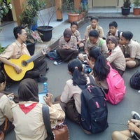 Photo taken at SMPN 91 Jakarta by Mochamad Angga B. on 8/23/2014