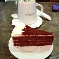 Photo taken at Theobroma Chocolate Lounge by Geri on 4/8/2014