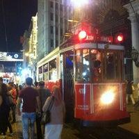 Photo taken at Galatasaray Tramvay Durağı by Egor K. on 9/17/2013