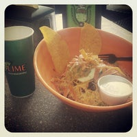Photo taken at Lime Fresh Mexican Grill by Crystal D. on 10/19/2012