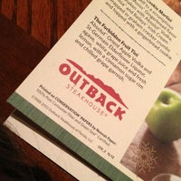 Photo taken at Outback Steakhouse by Paula C. on 12/22/2012