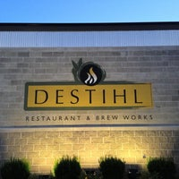 Photo taken at Destihl Restaurant & Brew Works by Tom R. on 7/4/2013