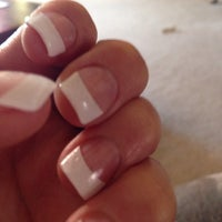 Photo taken at Forever French Nails & Organic Salon by Genia T. on 3/14/2014