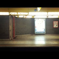 Photo taken at Metro Porta Romana (M3) by Sara B. on 12/5/2012