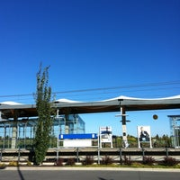 Photo taken at South Campus LRT Station by Monique M. on 9/17/2012