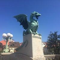 Photo taken at Zmajski most / Dragon Bridge by Maria U. on 8/17/2014
