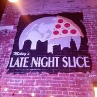 Photo taken at The Original Mikey's Late Night Slice by Ron T. on 1/19/2013