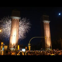 Photo taken at Plaça d'Espanya by Celso S. on 9/24/2012