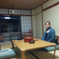 Photo taken at Miyajima Seaside Hotel by Irene K. on 2/8/2015