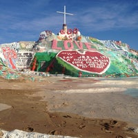 Photo taken at Salvation Mountain by Lisa H. on 12/16/2012