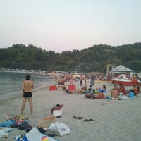 Photo taken at Armenistis Beach by Giannis S. on 8/3/2013