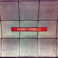 Photo taken at Metro Furio Camillo (MA) by Antonio P. on 2/13/2013