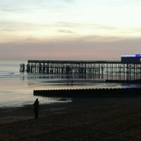 Photo taken at Hastings Pier by Mette S. on 12/27/2016
