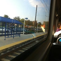 Photo taken at Baltimore Highlands Light Rail Station by Barbara O. on 10/4/2012