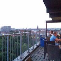Photo taken at Dachterrasse @A&O Hotel & Hostel Dresden by Daniela S. on 7/23/2013