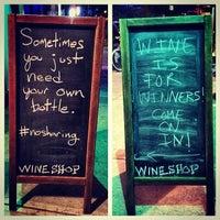 Photo taken at Wineshop by Jordan S. on 5/22/2014