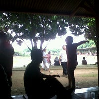 "Photo taken at Rumah Makan ""MANG AJO""(Resto & Pemancingan) by Oktavia D. on 4/21/2013"
