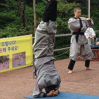 Photo taken at 골굴사 (骨窟寺, Golgulsa) by Deborah S. on 7/16/2014