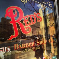 Photo taken at Red's Classic Barber Shop Co. by Rob M. on 4/5/2013