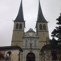 Photo taken at Hofkirche by anGel C. on 12/5/2014
