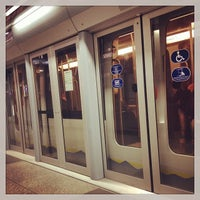 Photo taken at Metro Lingotto (M1) by tomasz jakub s. on 11/10/2013