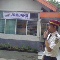 Photo taken at Stasiun Jombang by Siti R. on 8/29/2013