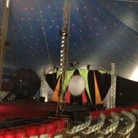 Photo taken at Le Cirque by Pousada Rosa dos Ventos - Praia do Forte on 5/12/2013
