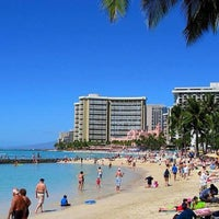 Photo taken at Waikīkī Beach by Edward L. on 5/28/2013