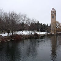 Photo taken at Riverfront Park by Evan[Bu] on 12/29/2012