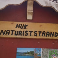 Photo taken at Huk Nudiststrand by Egil J. on 4/22/2013