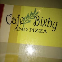 Photo taken at Cafe Bixby And Pizza by Luis M. on 2/14/2014