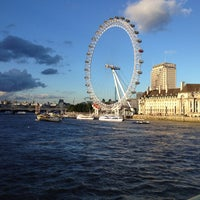 Photo taken at The London Eye by Bárdos P. on 9/7/2013