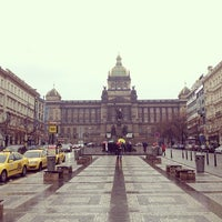 Photo taken at Wenceslas Square by Jaroslava S. on 1/8/2013