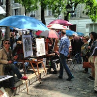 Photo taken at Place du Tertre by Максим Г. on 6/8/2013