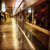 Photo taken at MRT Huai Khwang (HUI) by Tananat S. on 1/30/2013