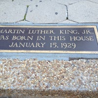 Photo taken at Martin Luther King Jr. Birth Home by Dawn W. on 11/24/2012
