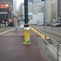Photo taken at Warehouse District/Hennepin Ave LRT Station by Jackie D. on 12/7/2012
