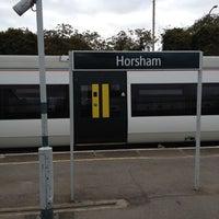Photo taken at Horsham Railway Station (HRH) by Alejandro A. on 9/16/2012