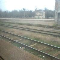 Photo taken at Залізнична станція «Урожайна» by Vladimir on 2/24/2014