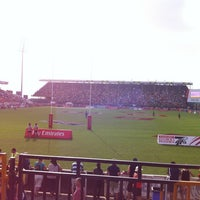 Photo taken at 7he Sevens Rugby Ground by Shereef Z. on 12/1/2012