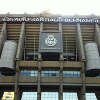 Photo taken at Santiago Bernabéu Stadium by Can K. on 7/9/2013