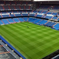 Photo taken at Santiago Bernabéu Stadium by J D. on 4/29/2013