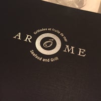 Photo taken at Arôme Seafood And Grill by Audrey P. on 2/25/2016