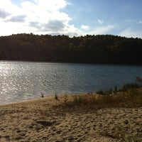 Photo taken at Cliff Pond by Lisa M. on 10/27/2013