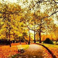 Photo taken at Regent's Park by Jennifer H. on 10/28/2012