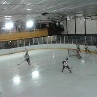 Photo taken at Bradford Ice Arena by Ayça Ö. on 2/27/2014